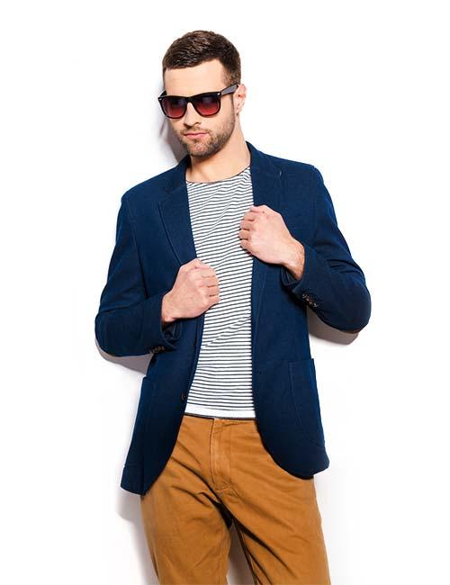 ژاکت با رنگ آبی نفتی